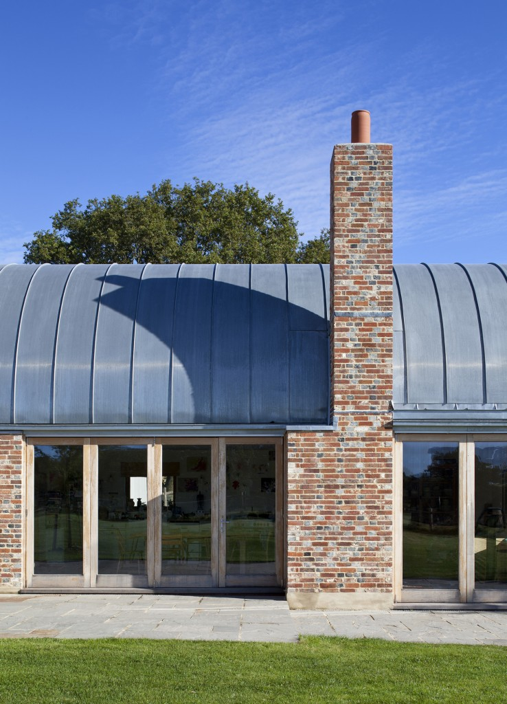 Mole architects hawthbush mole architects for Barrel vault roof