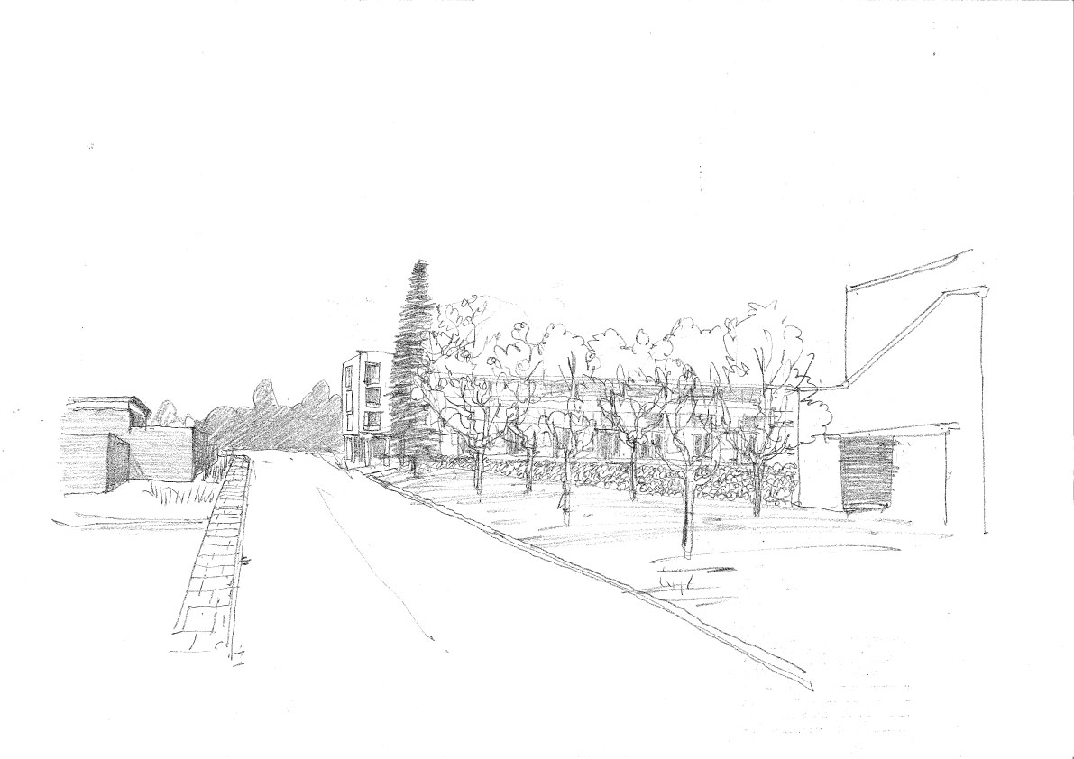 ChurchillCollegeSketch2
